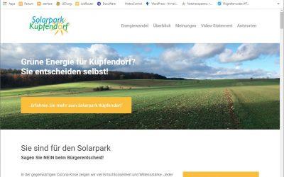 Solarpark Küpfendorf – Bürgerentscheid am 17.05.2020